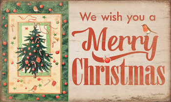 We Wish You a Merry Christmas Wood Sign