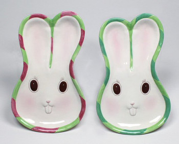 Bunny Rabbit Porcelain Plates, Set of 2