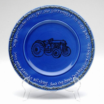 Blue Farm Blessing Tractor Salad Plates, Set of 4
