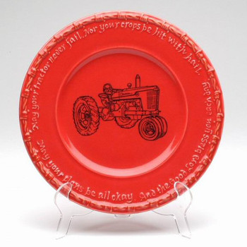 Red Farm Blessing Tractor Salad Plates, Set of 4