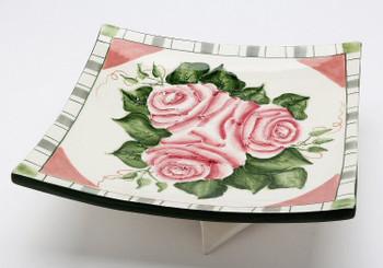 Romantic Rose Plates, Set of 2