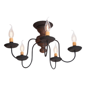 Hartford Pumpkin Thorndale Wood and Metal Ceiling Light