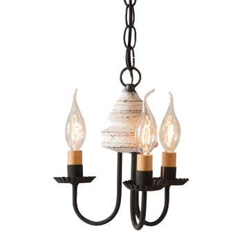 Americana White Bellview Wood Chandelier