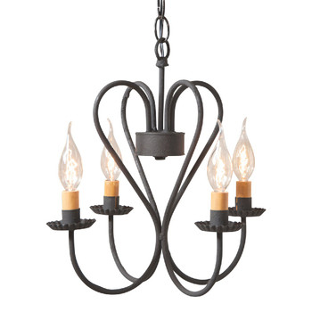 Textured Black Small Georgetown Metal Chandelier