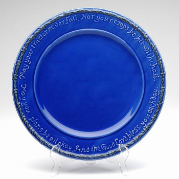 Blue Farm Blessing Tractor Dinner Plates, Set of 4