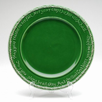 Green Farm Blessing Tractor Dinner Plates, Set of 4