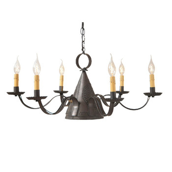 Blackened Tin Madison Punched Tin Chandelier