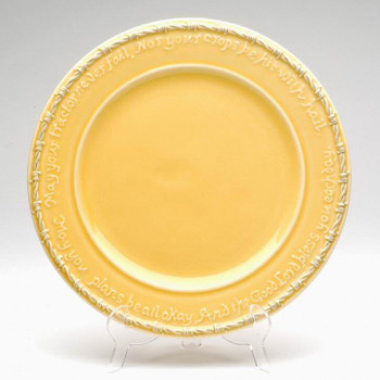 Yellow Farm Blessing Tractor Dinner Plates, Set of 4