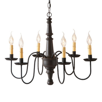 Americana Black Harrison Wood Chandelier