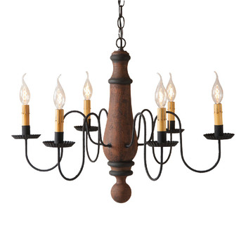 Hartford Pumpkin Large Norfolk Wood and Metal Chandelier