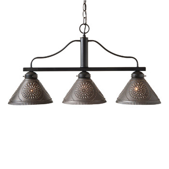 Kettle Black Barrington Medium Punched Chisel Pierced Tin Island Light