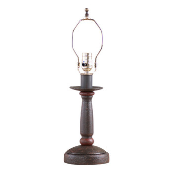 Americana Espresso Butcher's Table Lamp Base