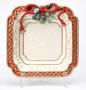 Poinsettia Porcelain Dessert Plate