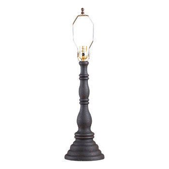 Hartford Black over Red Davenport Table Lamp Base