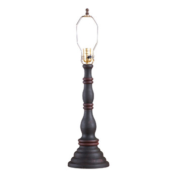 Hartford Black over Red with Red Stripe Davenport Table Lamp Base