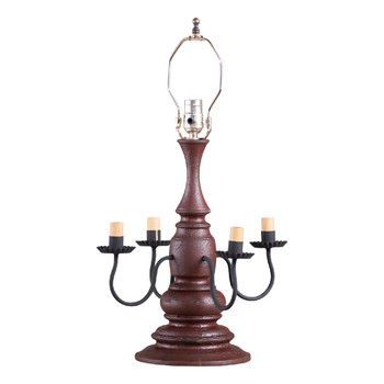 Americana Plantation Red Harrison Table Lamp Base