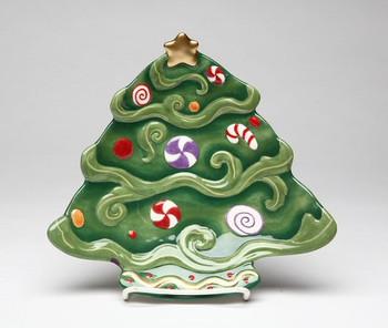 Christmas Tree Dessert Plates, Set of 4