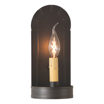 Kettle Black Fireplace Lighted Metal Wall Sconce