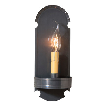 Country Tin Foot Lighted Metal Wall Sconce