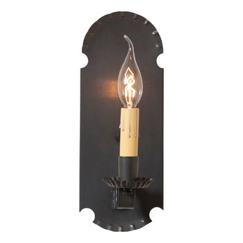 Blackened Tin Apothecary Lighted Metal Wall Sconce