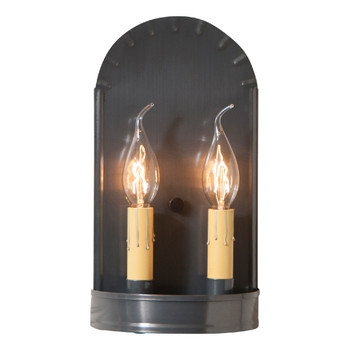 Country Tin Arch Lighted Metal Wall Sconce