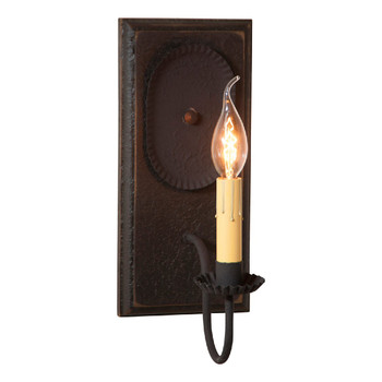 Americana Black Wilcrest Lighted Metal Wall Sconce