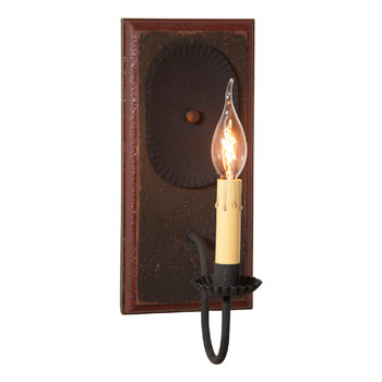 Americana Espresso Wilcrest Lighted Metal Wall Sconce