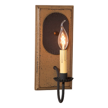 Americana Pearwood Wilcrest Lighted Metal Wall Sconce