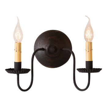 Americana Black Ashford Lighted Metal Wall Sconce