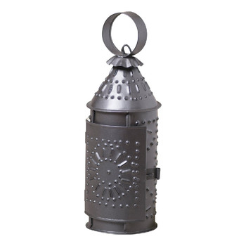 "Smokey Black 9"" Revere Metal Candle Lanterns, Set of 2"