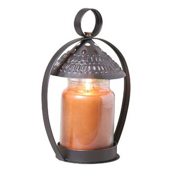 Smokey Black Canopy Metal Candle Jar Shades, Set of 2
