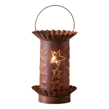 Rustic Tin Mini Country Star Electric Wax Melter Wax Warmer