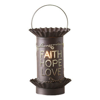 Kettle Black Mini Vertical Faith Hope Love Electric Wax Melter Wax Warmer