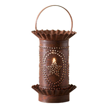 Rustic Tin Mini Star Oval Design Electric Wax Melter Wax Warmer
