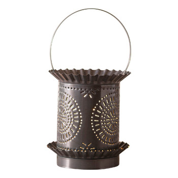 Country Tin Jumbo Punched Chisel Pierced Tin Electric Wax Melter Wax Warmer