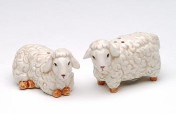 Mini Lambs Ceramic Salt and Pepper Shakers, Set of 4