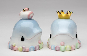 Two Dolphins Ceramic Salt and Pepper Shakers, Set of 4