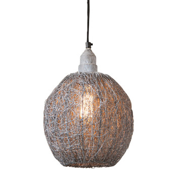 Weathered Zinc Nesting Wire Hanging Metal Pendant Light