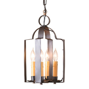 Smokey Black Tinner's Saddle Metal Pendant Light