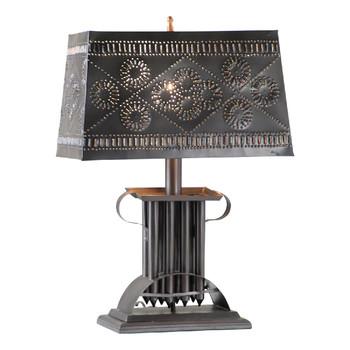 Smokey Black Candle Mold Lamp with Rectangular Shade