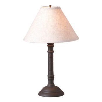 Hartford Black Gatlin Wood Table Lamp with Shade