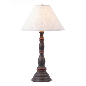 Hartford Black with Red Stripe Davenport Wood Table Lamp with Shade