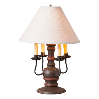 Americana Espresso Cedar Creek Wood and Metal Table Lamp with Fabric Shade