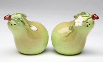 Pear Porcelain Salt and Pepper Shakers, Set of 4