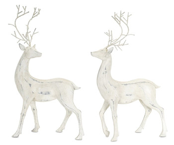 Standing Deer Sculptures, Set of 2