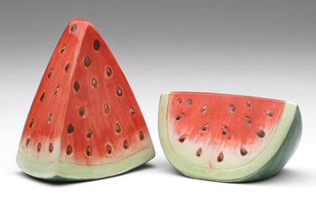 Watermelon Porcelain Salt and Pepper Shakers, Set of 4