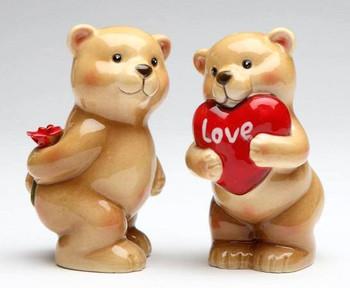 Lover Bears Porcelain Salt and Pepper Shakers, Set of 4
