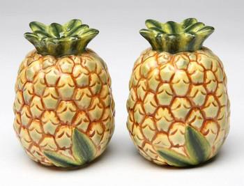 Pineapple Porcelain Salt and Pepper Shakers, Set of 4