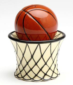 Basketball Porcelain Salt and Pepper Shakers, Set of 4