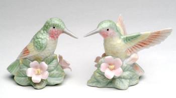 Hummingbird Porcelain Salt and Pepper Shakers, Set of 4